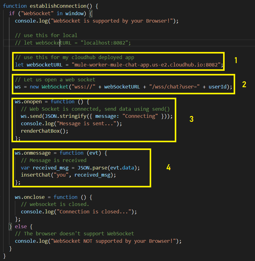 HTML/JS Client