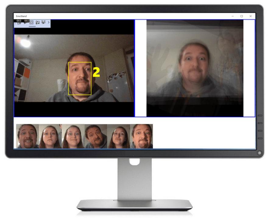 Cognitive Portrait UWP UI