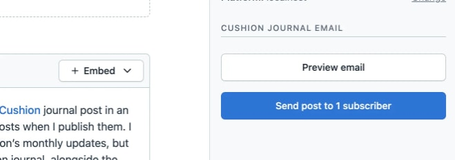 Screenshot of email preview in Contentful web app