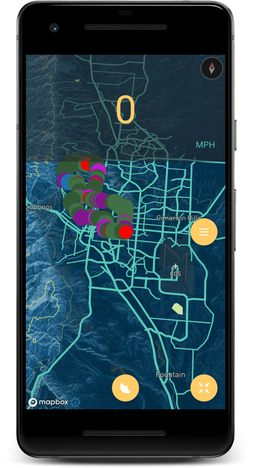 MOTOrift app map view