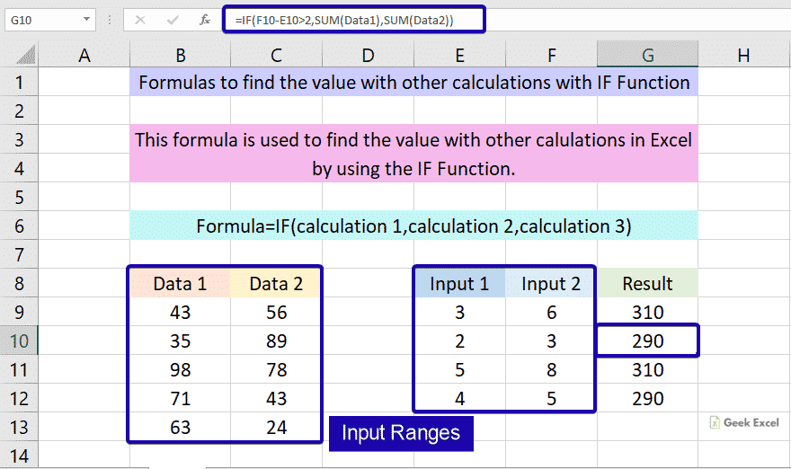 If with other calculations