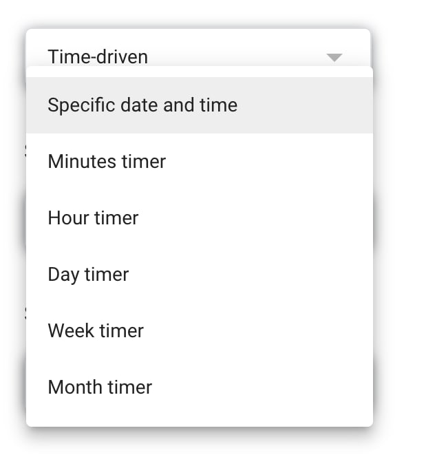 Apps Script trigger by time