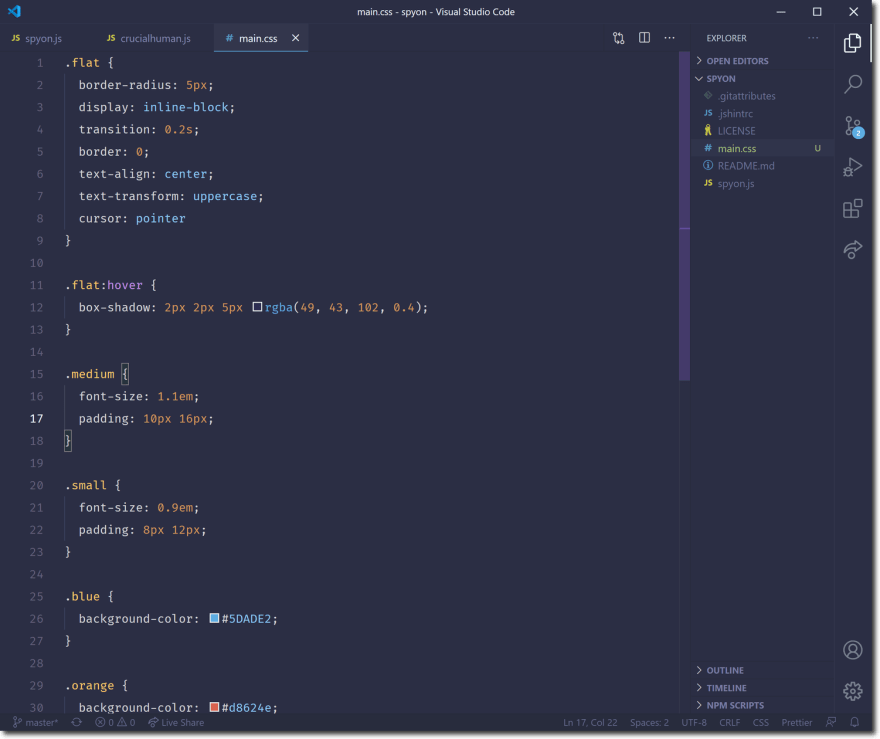 Crucial Human Theme for VSCode