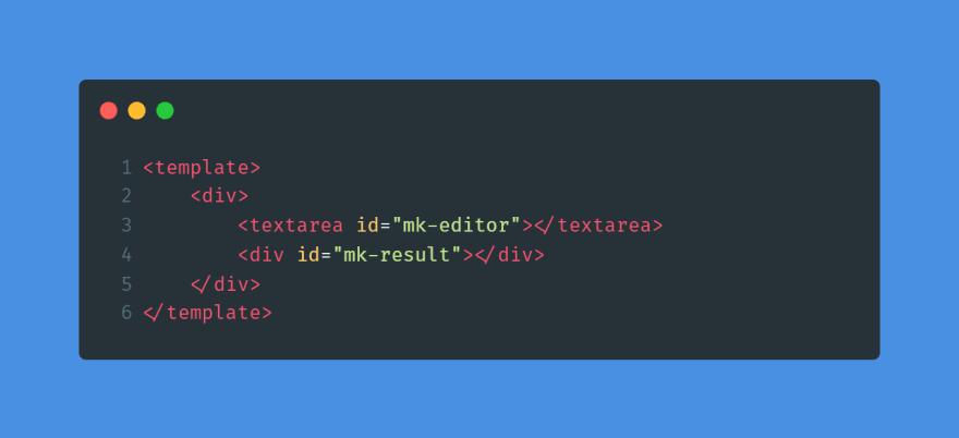 Added a div for rendering parsed result