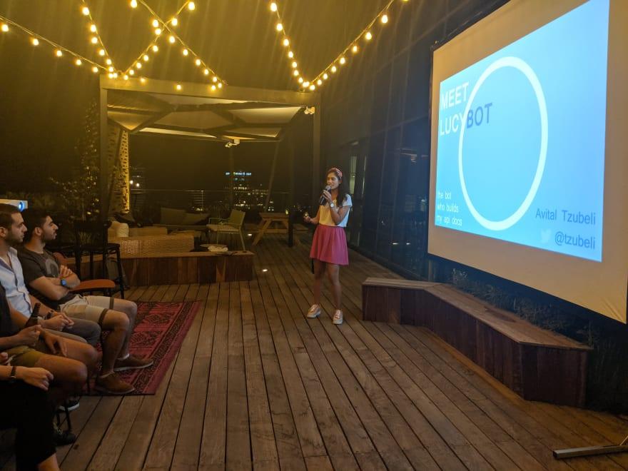 Avital presenting