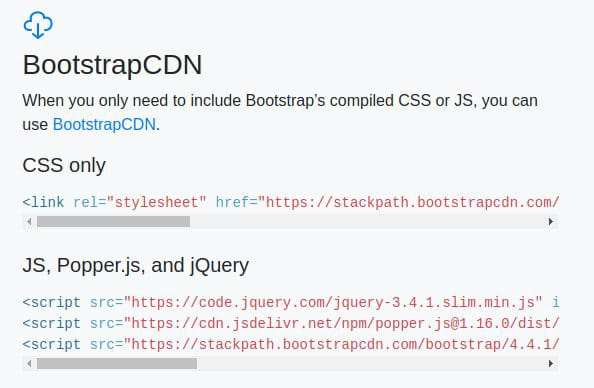 Linking Bootstrap