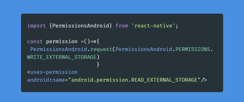 Cover image for Asking for permissions in React Native.