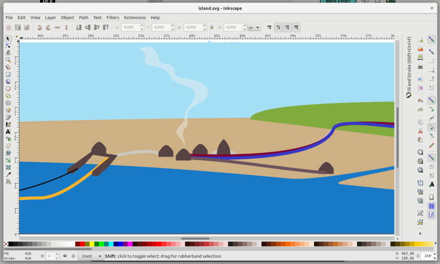 Screenshot of Inkscape