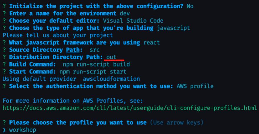 amplify configure project