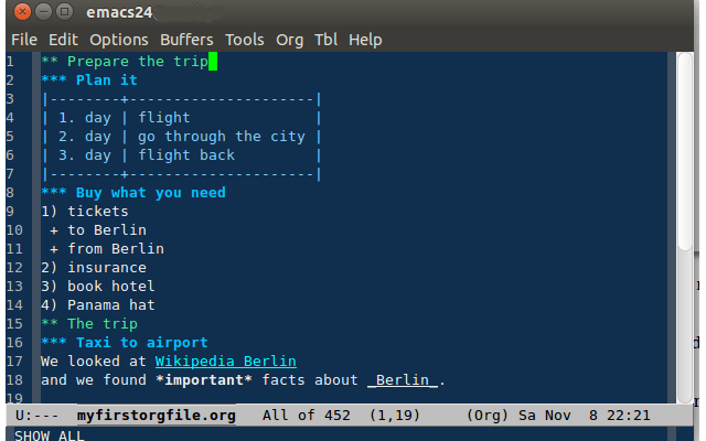 emacs outlining software