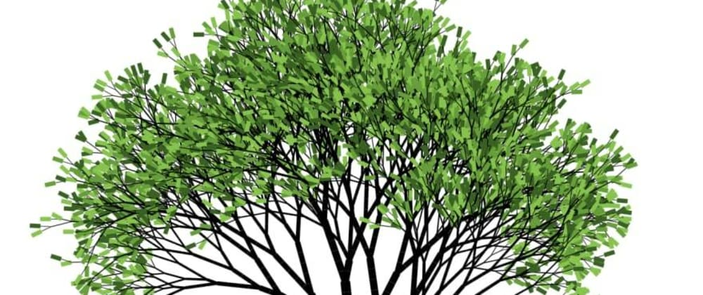 Cover image for Generating Trees Images, Part 3. From Fractal to a Real Tree