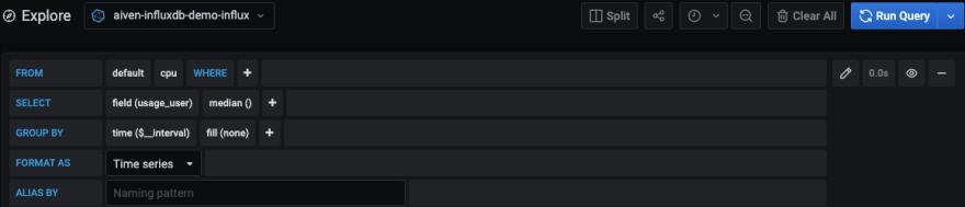 CPU metrics settings