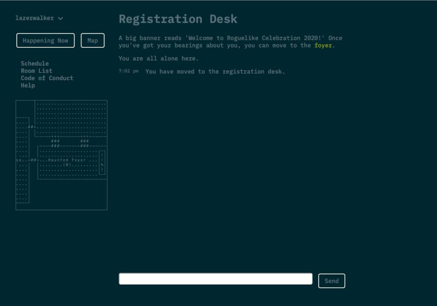 The registration desk