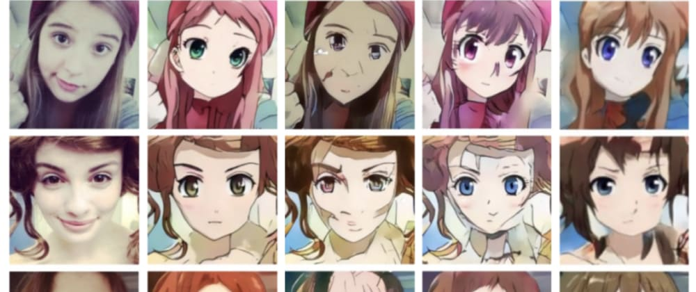 Cover image for Turn your selfies into an anime character using Ainize!