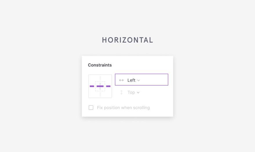 figma horizontal constraints