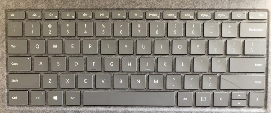 Keyboard layout for Surface Laptop 3.