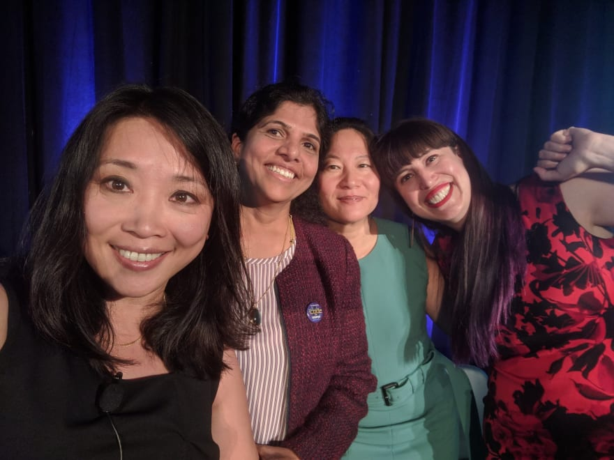 Chenxi Wang, Meera Rao, Julie Tsai and me.