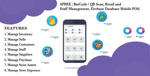 SPREE (Retail and Staff Management, Firebase Database Mobile<br> POS)