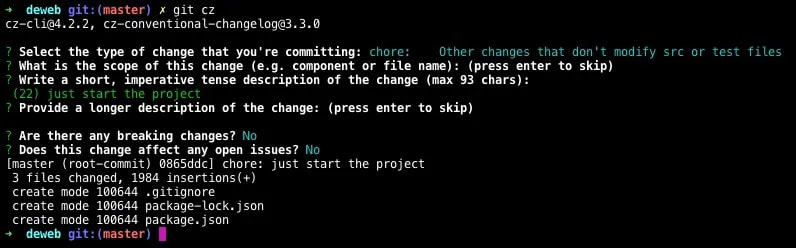 Commit With Commitizen