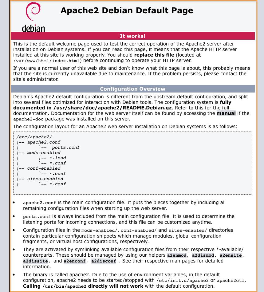 Apache 2 Installation