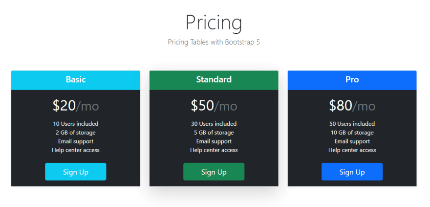 Bootstrap Pricing Tables.png