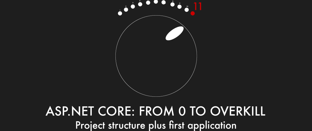 Cover image for Episode 002 - Project structure plus first application - ASP.NET Core: From 0 to overkill