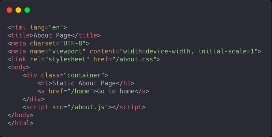 static page example