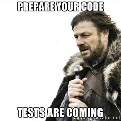 Testing Code meme