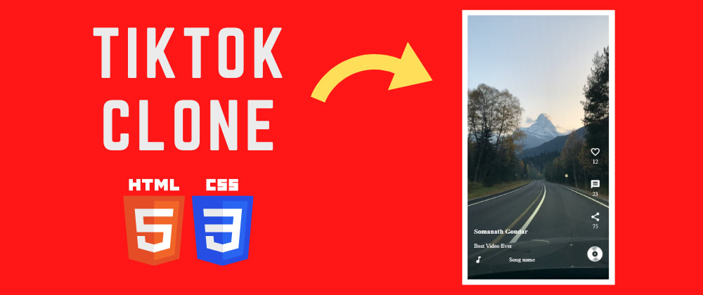 Cover image for 🔴 Build TikTok Clone using HTML and CSS