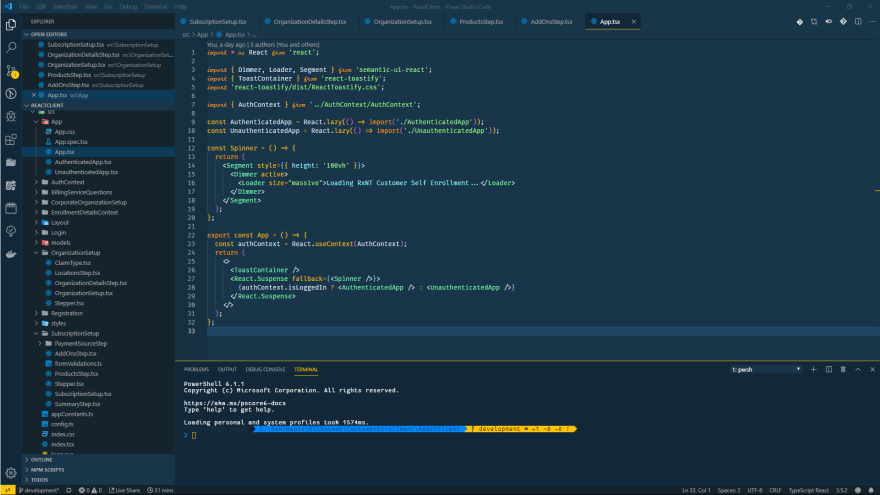 A screenshot of VSCode