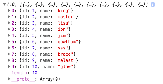 final array with unique objects