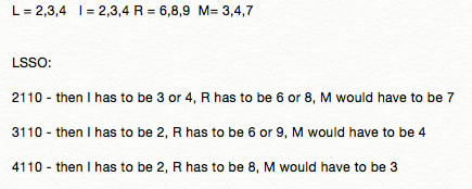 Some logic for what numbers the letters might stand for in the second division problem.