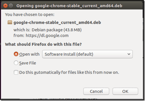 Chrome Download options