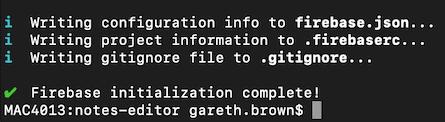Firebase initilization complete