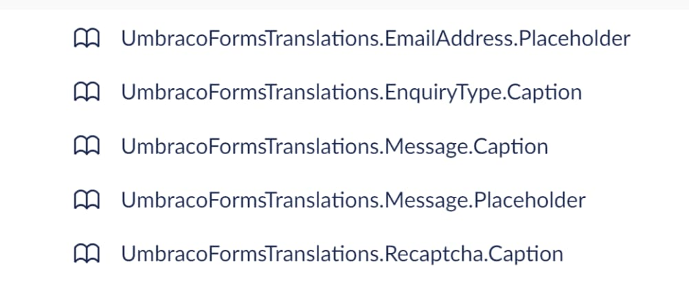 Umbraco Forms and converting fields to translations nodes