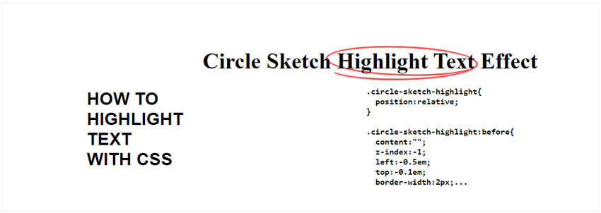 Circle Sketch CSS Highlight Text Effect