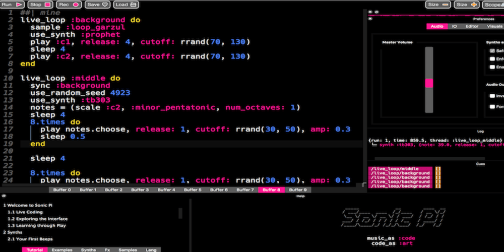 Today I learned: how to generate music with Sonic Pi! - DEV