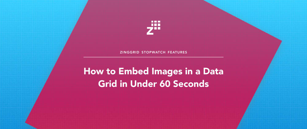 Cover image for How to Embed Images in a Data Grid in Under 60 Seconds