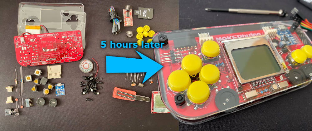 Cover image for MAKERbuino - solder your own game console and start making games