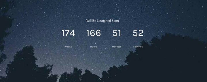 The Countdown Timer feature laugh on a WordPress website