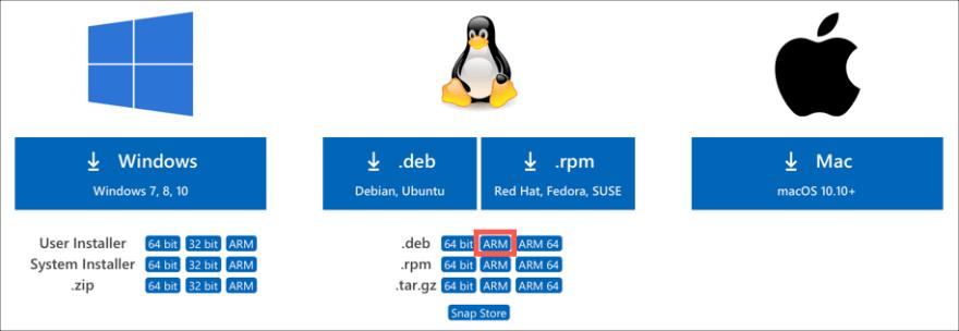 Run Visual Studio Code on a Raspberry Pi