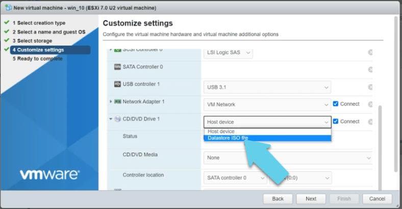 CD / DVD Drive settings