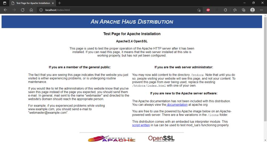Apache Success