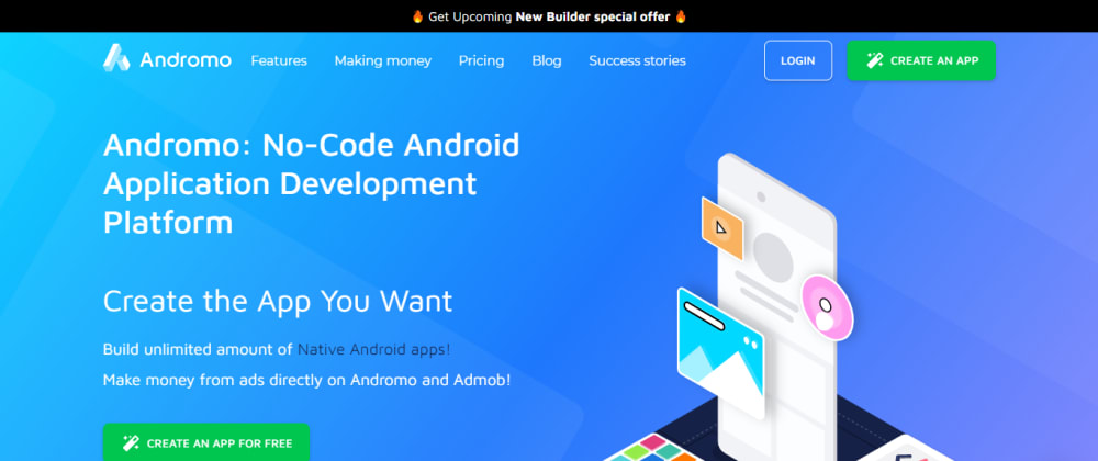 Cover image for Introducing Andromo - Create Android Apps Without Coding