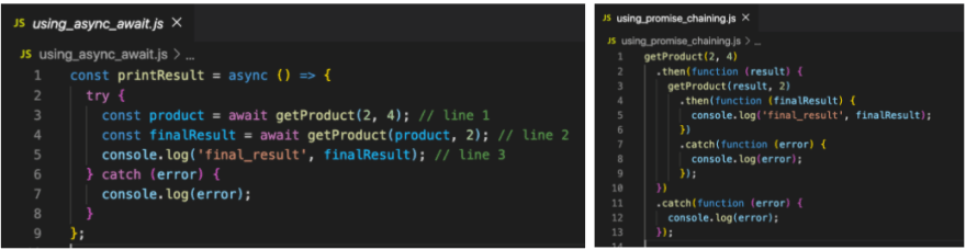 Comparing chaining and async/await