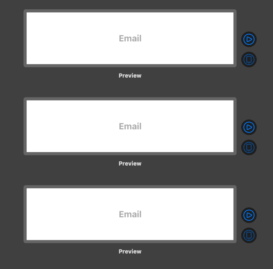 Previewing multiple states of a SwiftUI view at once.
