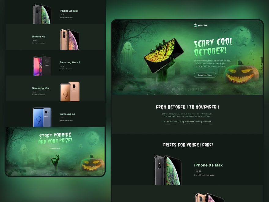 slimey pumpkin frontend interface examples