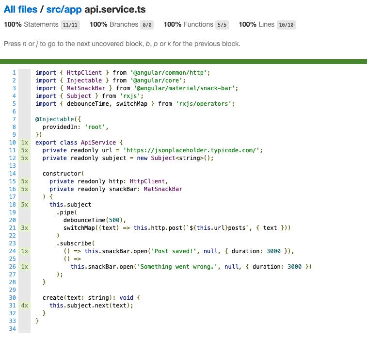 Code coverage 2