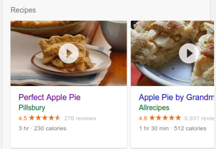 Search Gallery Pie