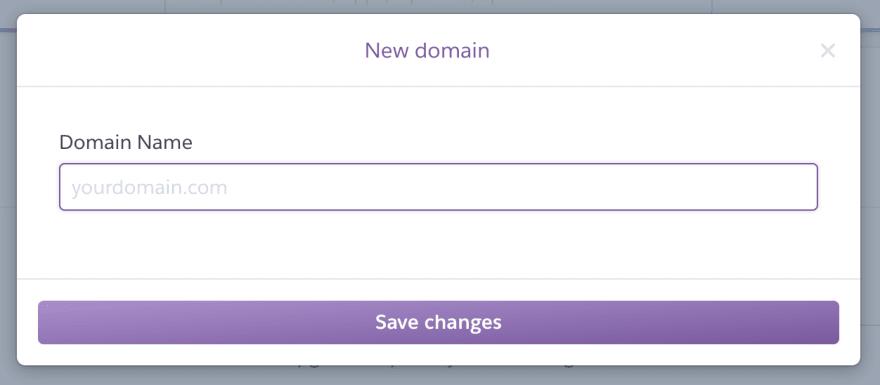 Add new Domain on Heroku